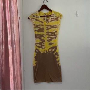 Raquel Allegra   Basic Cap Sleeve Tie Dye Mini